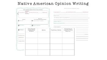 Native American Opinion Writing Bundle