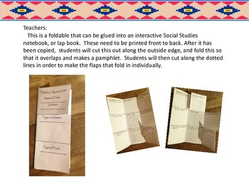 Native American Pamphlet, Template for Social Studies Notebook or Lapbook