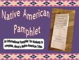 Native American Pamphlet, Template for Social Studies Note