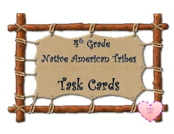 Native America Tribes Task Cards 3rd Grade