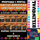 Native American - 10 History Leaders - Worksheets and Readings - Bundle