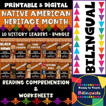 Native American - 10 History Leaders - Worksheets and Readings - Bundle