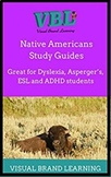 Native Americans ESL  /Distant Learning/ Visual Study Guides