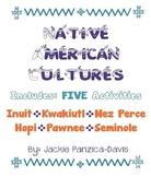 Native American 5 Activities: Inuit, Kwakiutl, Nez Perce,