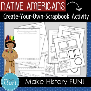 """Native American Activity- """"Create Your Own Scrapbook!"""""""