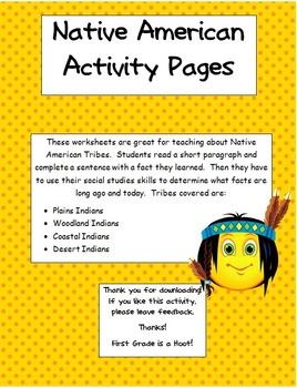 Native American Activity Pages
