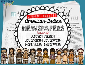 American Indian Newspapers for each Native American region