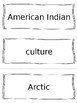 Native American (American Indian) Vocabulary Cards - SS3H1