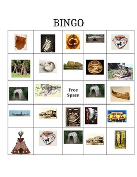 Native American Artifact Bingo Game