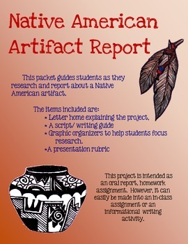 Native American Artifact Oral Report & Project