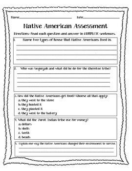 Native American Assessment