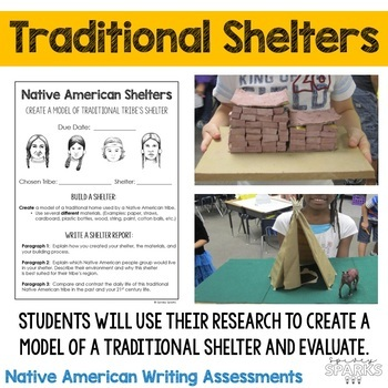 Native American Organizers, Writing Prompts and Shelter Project