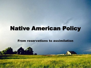 Native American Assimilation Powerpoint