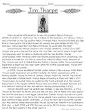 Native American Athletes: Jim Thorpe Close Reading Passage
