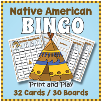 Native American BINGO - American Indian Tribe Names