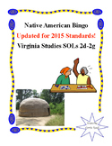 Native American Bingo: Virginia Studies SOLs 2d-2g
