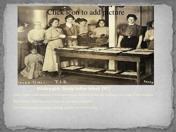 Native American Boarding School PowerPoint Supplemental to Cheyenne Again