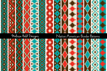 Clipart: Native  American Border Patterns Clip Art