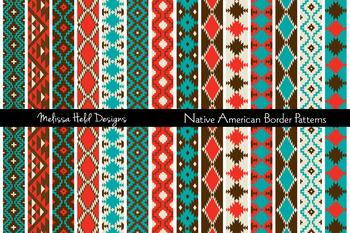 Native American Border Patterns Clipart