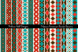 Native American Inspired                                 Border Patterns Clipart