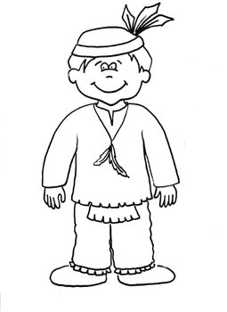 Native American Boy Printable Coloring Sheet