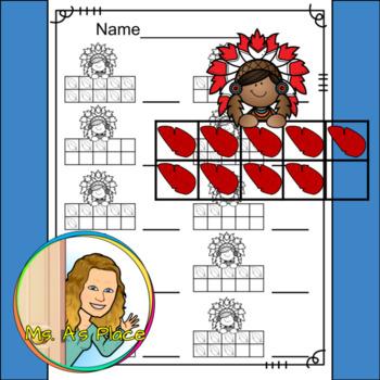 Native American Boy Ten Frames/Number Recognition