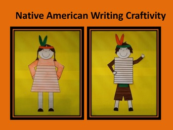 Native American Boy and Girl Writing Craftivity