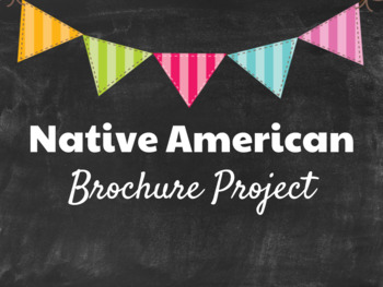 Native American Project with Rubric and Assignment Description