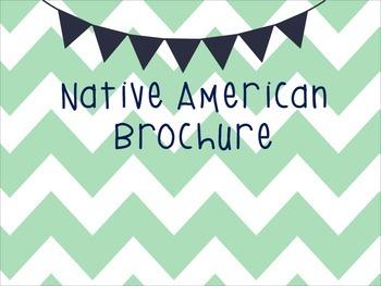 Native American Brochure- SS4H1