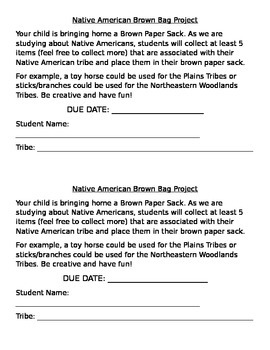 Native American Brown Bag Project