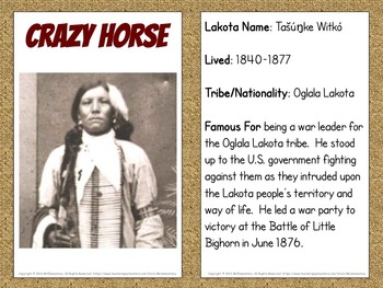 Famous Native American Bulletin Board