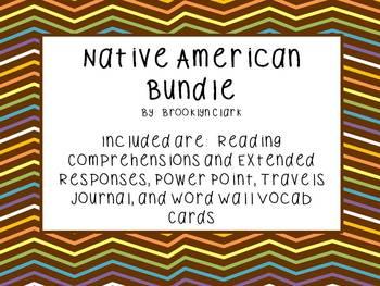 Native American Bundle - Powerpoint, Vocab, Comprehension, Journal