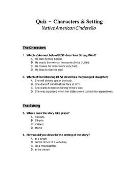Native American Cinderella Short Story Assessment