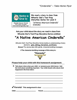 Native American Cinderella Short Story Fairy Tale Unit