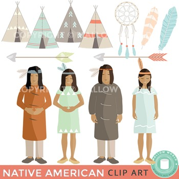 Native American Themed Clipart
