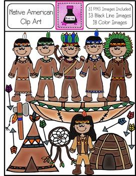 Native American Clip Art Bundle