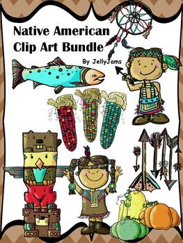 Native American Clip Art Bundle By JellyJams ~No Prep!