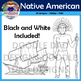 Native American Clip Art (Chief, Canoe, Island, Blue Dolph
