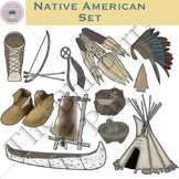 Native American Clip Art Set
