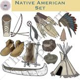 Native American Clip Art Set