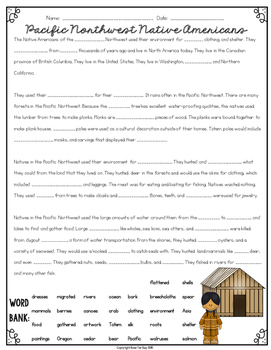 Native American Cloze Reading Activity Bundle