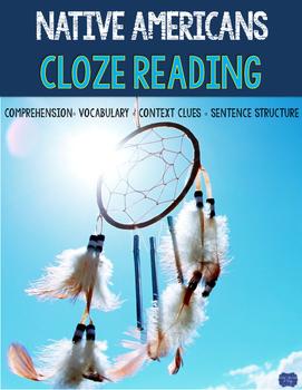 Native American Cloze Reading Activity Bundle