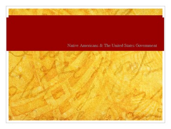 Native American Conflict PowerPoint