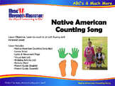 Native American Counting Song (Mp3) with Lesson Script, Visuals and Printables