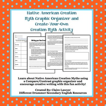 Native American Creation Myth Compare/Contrast Graph & Creative Writing Activity