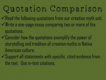 Native American Creation Myth Comparison PPT