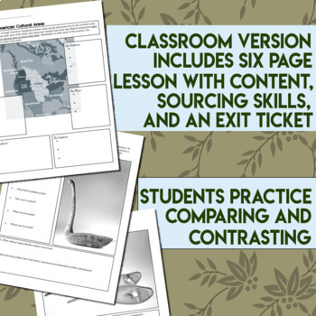 Native American Cultural Areas Students Practice Sourcing, Compare and Contrast