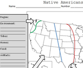Native American Cultural Regions Interactive Notes & Test