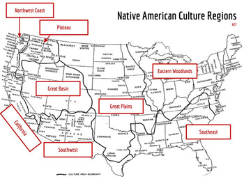native american cultural regions map activity by subversive education. Black Bedroom Furniture Sets. Home Design Ideas