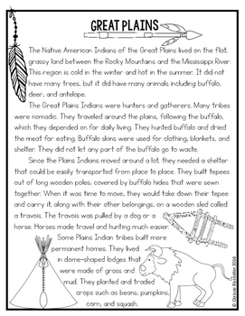 Native American Cultural Regions: Nonfiction Passages and Lapbook Kit